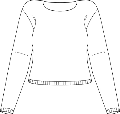 knit sweater lineart