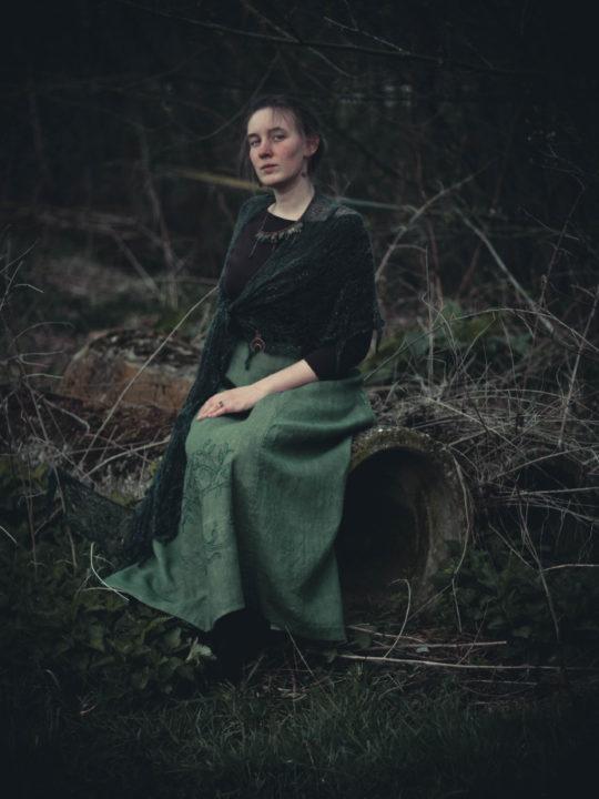 green-walking-skirt