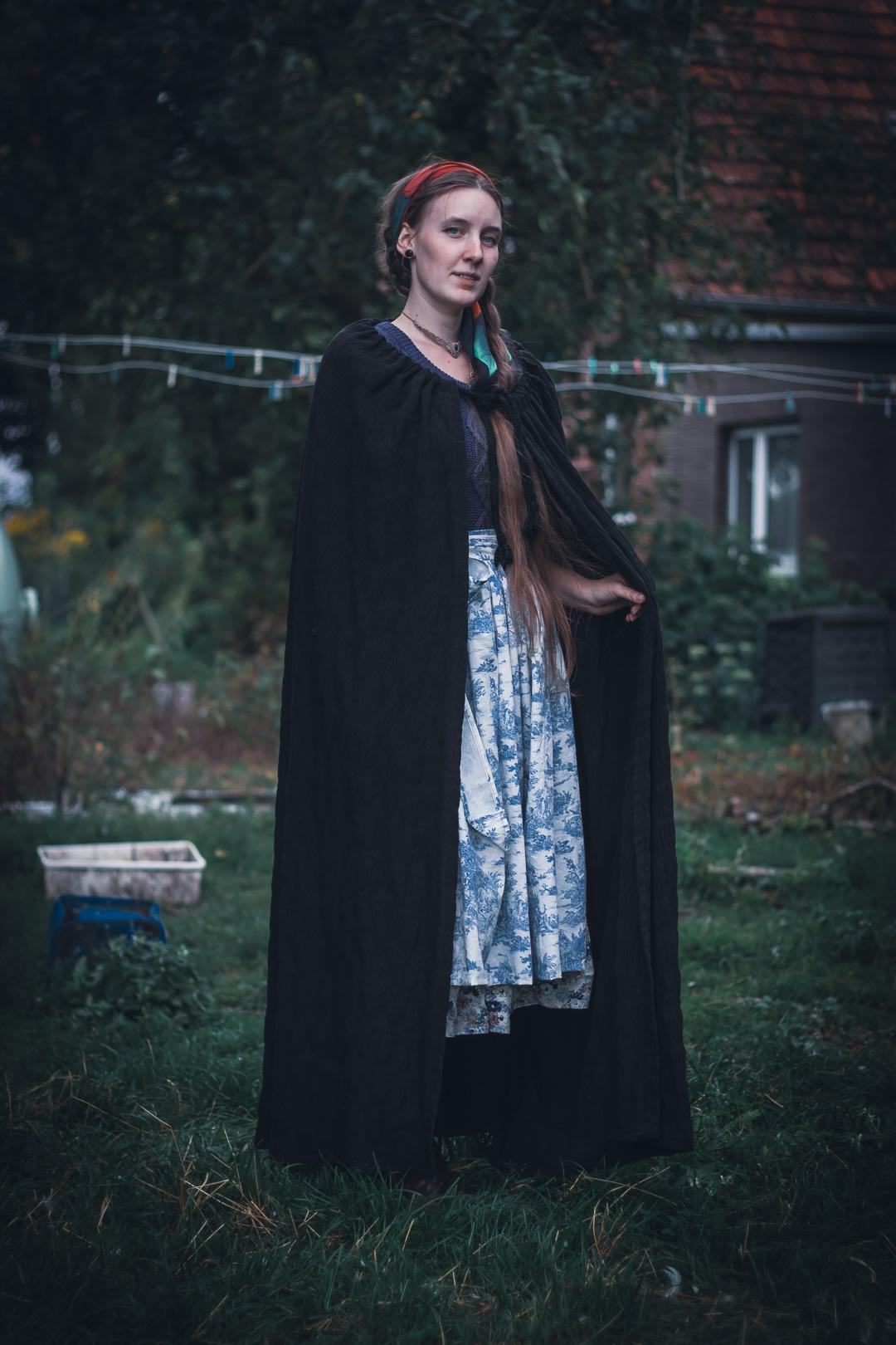 Outfit mit Bauernhofschürze