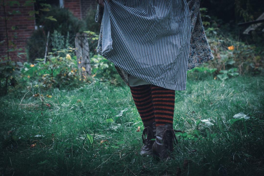 Outfit - Kürbishexe - Socken