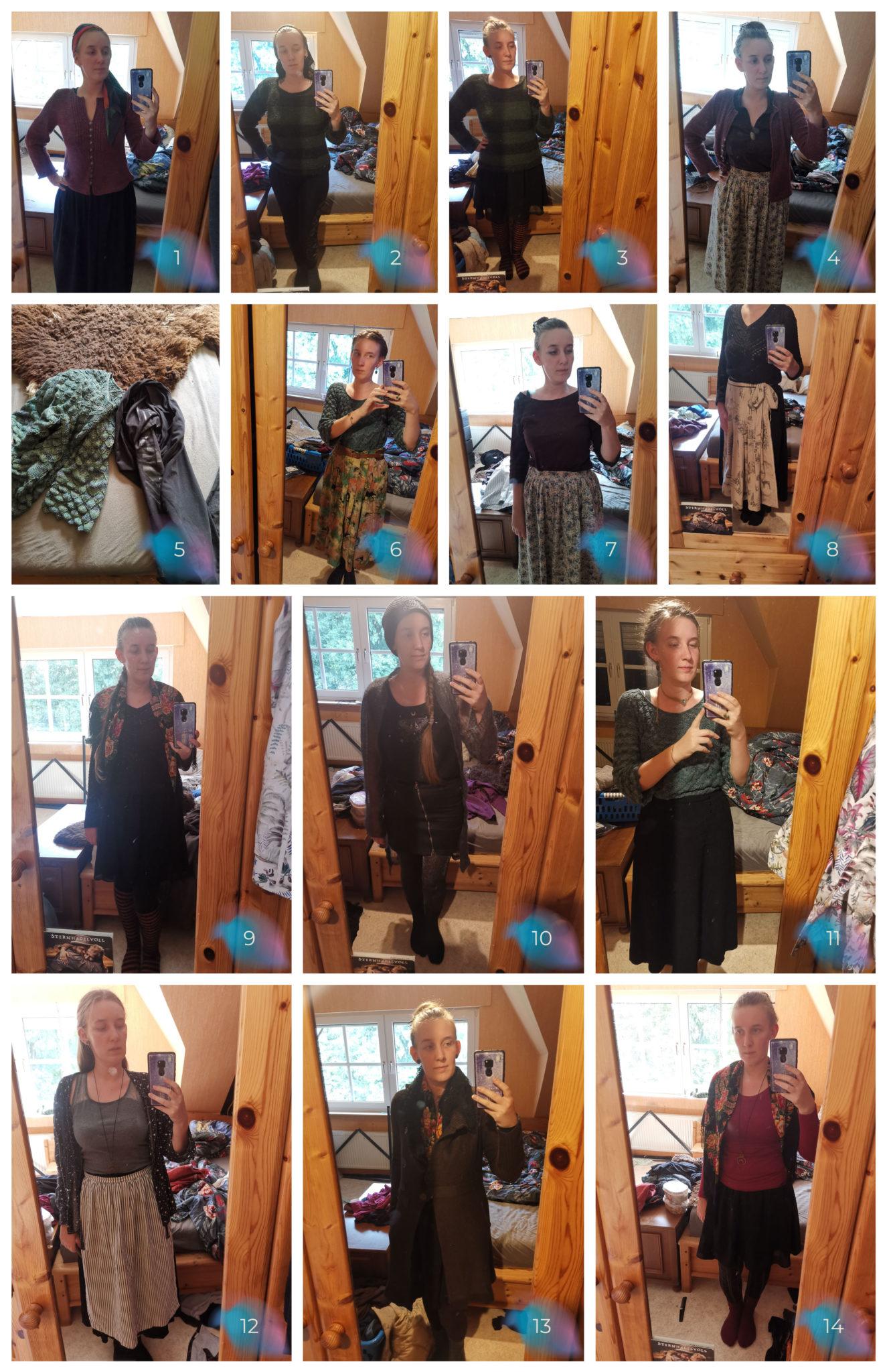 Übersicht Outfits 2 Wochen